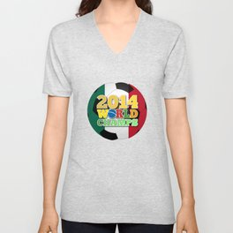 2014 World Champs Ball - Mexico Unisex V-Neck