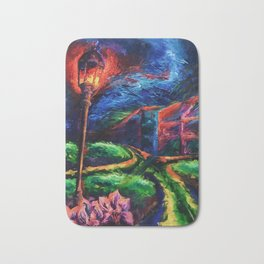 """The Crossroad"" Painting Bath Mat"