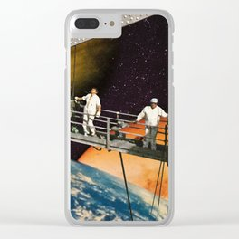 Construction Zone Clear iPhone Case
