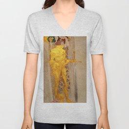 The Golden Knight - Gustav Klimt Unisex V-Neck