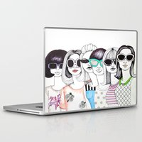 sunglasses Laptop & iPad Skins featuring sunglasses by Emily Tumen