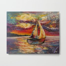 Boat by Kristen Tebow Metal Print