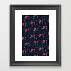 Classic western rose pattern Framed Art Print