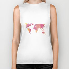 World in technicolour Biker Tank