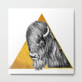 Totem - Bison Metal Print