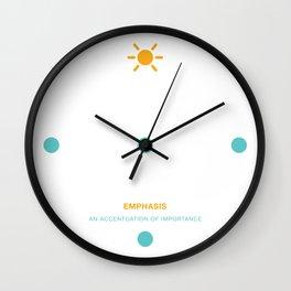 Design Principle THREE - Emphasis Wall Clock