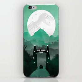 Jurassic Park Inspired Minimalist Print  iPhone Skin