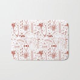 Doodle Christmas pattern Bath Mat