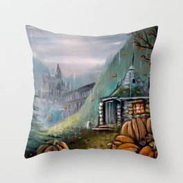 Gamekeeper's Autumn Throw Pillow