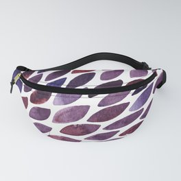 Watercolor brush strokes burst - purple autumn palette Fanny Pack