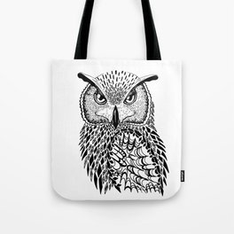 Flustered Owl Zentangle (abstract Tote Bag