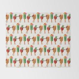 Tiki Cocktail Pin-Ups Throw Blanket