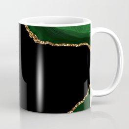 Green & Gold Agate Texture 04 Coffee Mug