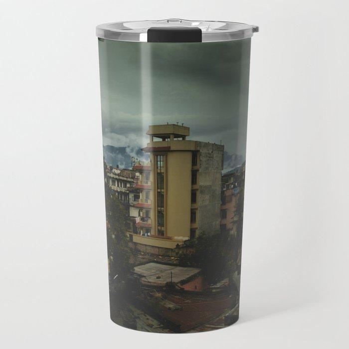 Kathmandu City Roof Top 001 Travel Mug
