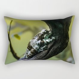 Frog Far From Home Rectangular Pillow