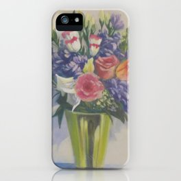 Various blooms in brass vase - Still life 5 in a Series of 10 iPhone Case
