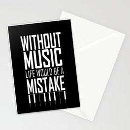 Without music, life would be a mistake Inspirational Life Quote Design Stationery Cards