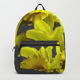 YELLOW SPRING DAFFODILS & CHARCOAL GREY COLOR Backpack