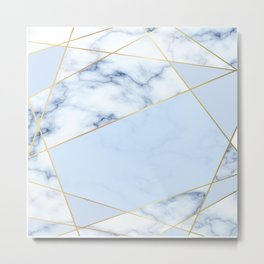 BLUE MARBLE PATTERN Metal Print