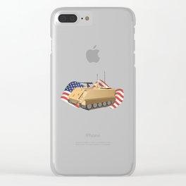 Patriotic Military APC M113 Clear iPhone Case
