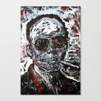 hunter s thompson Canvas Prints featuring Hunter S Thompson by Matt Pecson