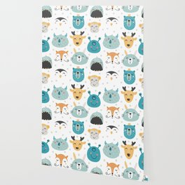Baby Animals - Fantasy and Woodland Creatures Pattern Wallpaper
