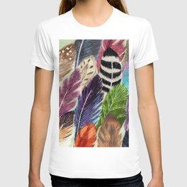 Pattern Feathers T-shirt