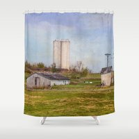 tennessee Shower Curtains featuring Tennessee Country Farm by Mary Timman