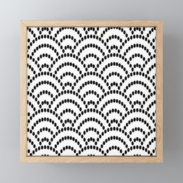 Japanese Seigaiha Dotted Seamless Pattern Geometrical Symbols Framed Mini Art Print