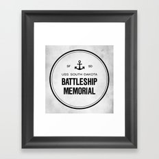 Battleship Memorial Framed Art Print