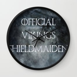 Shieldmaiden Wall Clock