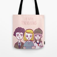 the royal tenenbaums Tote Bags featuring Tenenbaums by Pilotinta