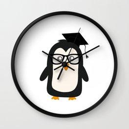 Penguin nerd Wall Clock