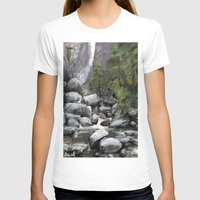waterfall T-shirts featuring Waterfall by Michael Hewitt