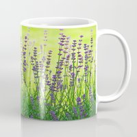 lavender Mugs featuring Lavender by Tanja Riedel