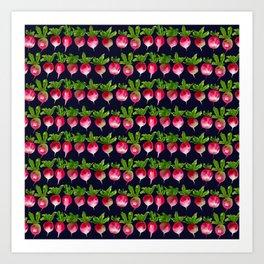 Watercolor radish seamless pattern Art Print