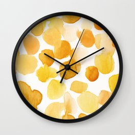 Yellow is my happy color Wall Clock