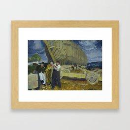 "George Wesley Bellows ""Builders of Ships"" Framed Art Print"