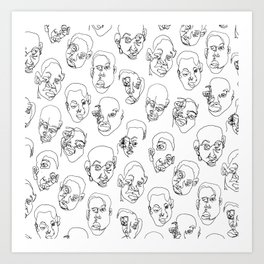 Kids' Faces Art Print