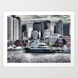 Yachts in Charles River Art Print