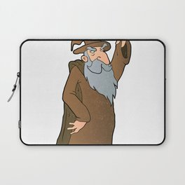 old Wizard cartoon Laptop Sleeve