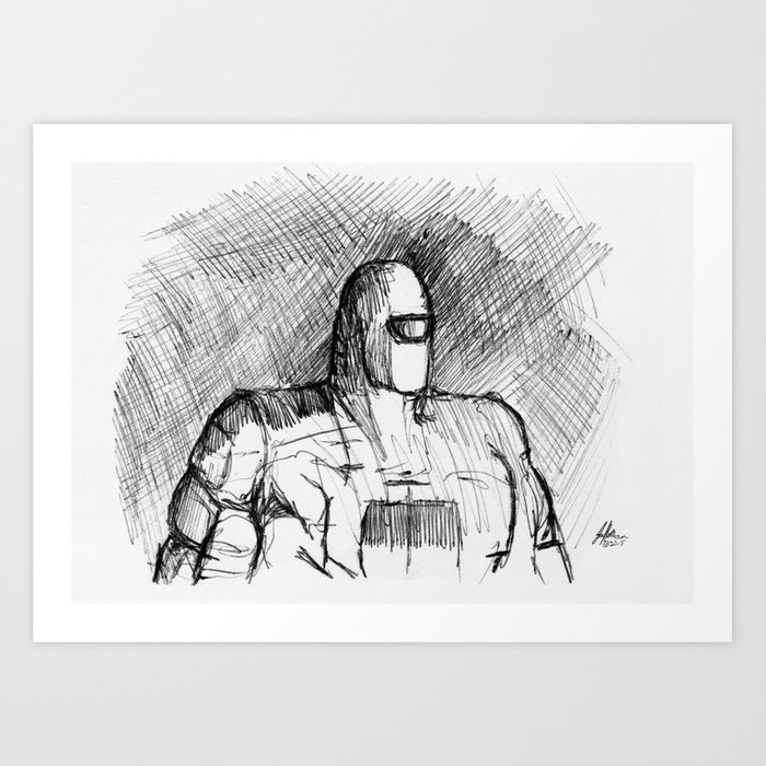 Warbot Sketch #012 Art Print