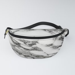 White Black Marble Fanny Pack