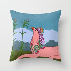 Pink Chimera Throw Pillow
