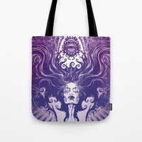 goddess Tote Bags featuring Goddess by 6amcrisis