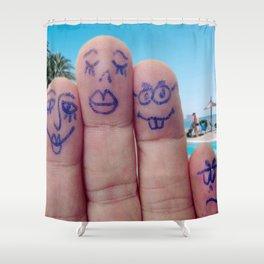 The Calvos Shower Curtain