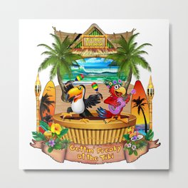 Gettin' Freaky at the Tiki Metal Print