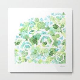 Geometric Forest Metal Print