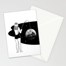 I just got mooned Stationery Cards