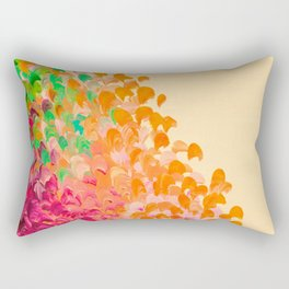 CREATION IN COLOR Autumn Infusion - Colorful Abstract Acrylic Painting Fall Splash Ombre Ocean Waves Rectangular Pillow